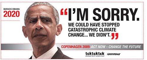Affiches de Greenpeace dans l'aéroport de Copenhague